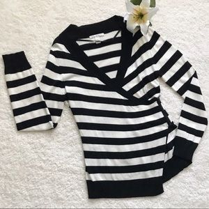 Kenneth Cole New York Striped Wrap Sweater K32